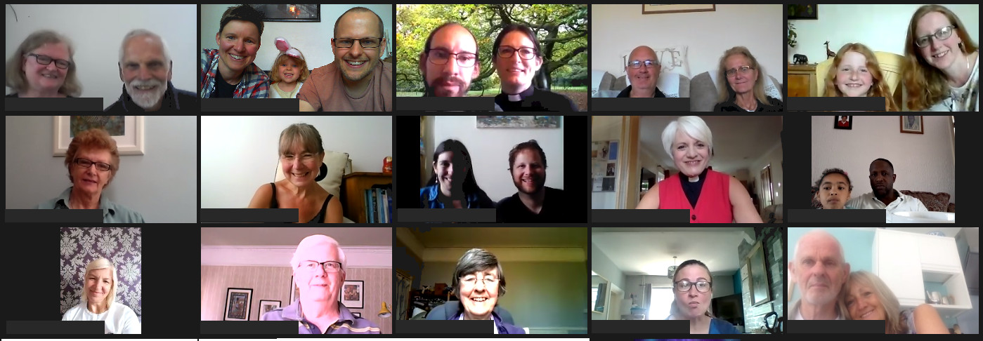 members of the church on Zoom